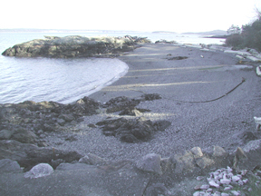 Beach and Tombolo, Pilothouse Cove